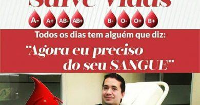 Para incentivar a doação de sangue o campo-grandense João Franco irá comemorar seu aniversário no Hemosul neste final de semana